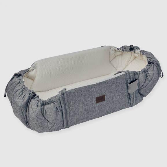 najell couffin sleepcarrier morning grey